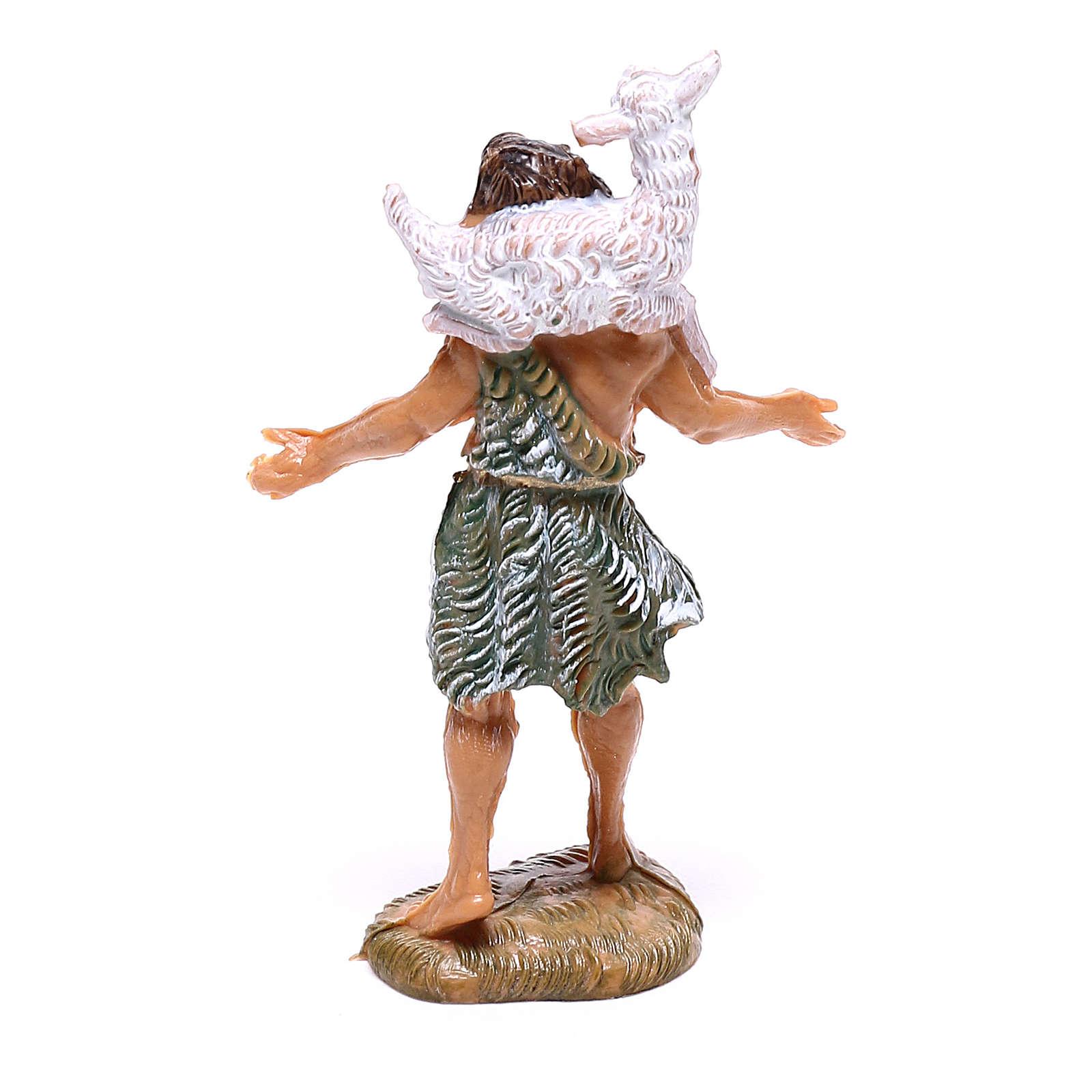 Pastor con oveja sobre las espaldas 4 cm belén Fontanini 4