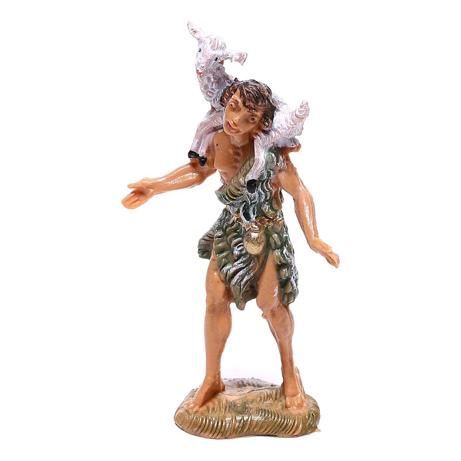Pastor com ovelha nos ombros para presépio Fontanini com figuras de 4 cm de altura média 4