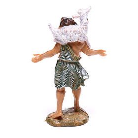 Pastor com ovelha nos ombros para presépio Fontanini com figuras de 4 cm de altura média s2
