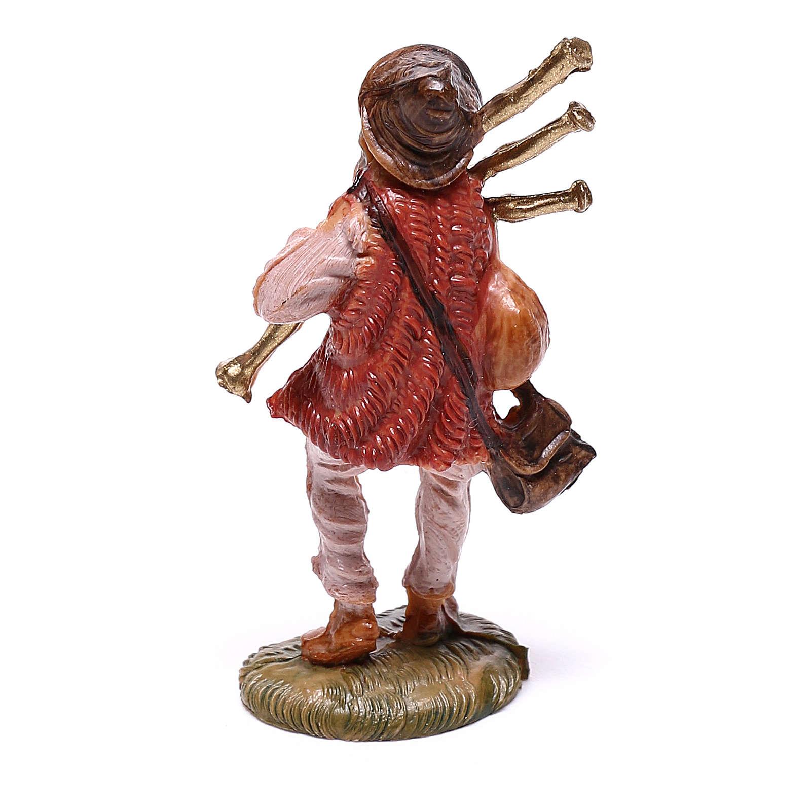 Gaiteiro para presépio Fontanini com figuras de 4 cm de altura média 4