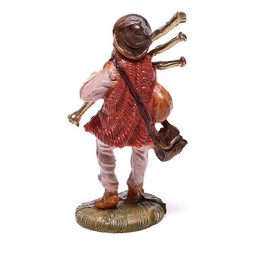 Gaiteiro para presépio Fontanini com figuras de 4 cm de altura média 2