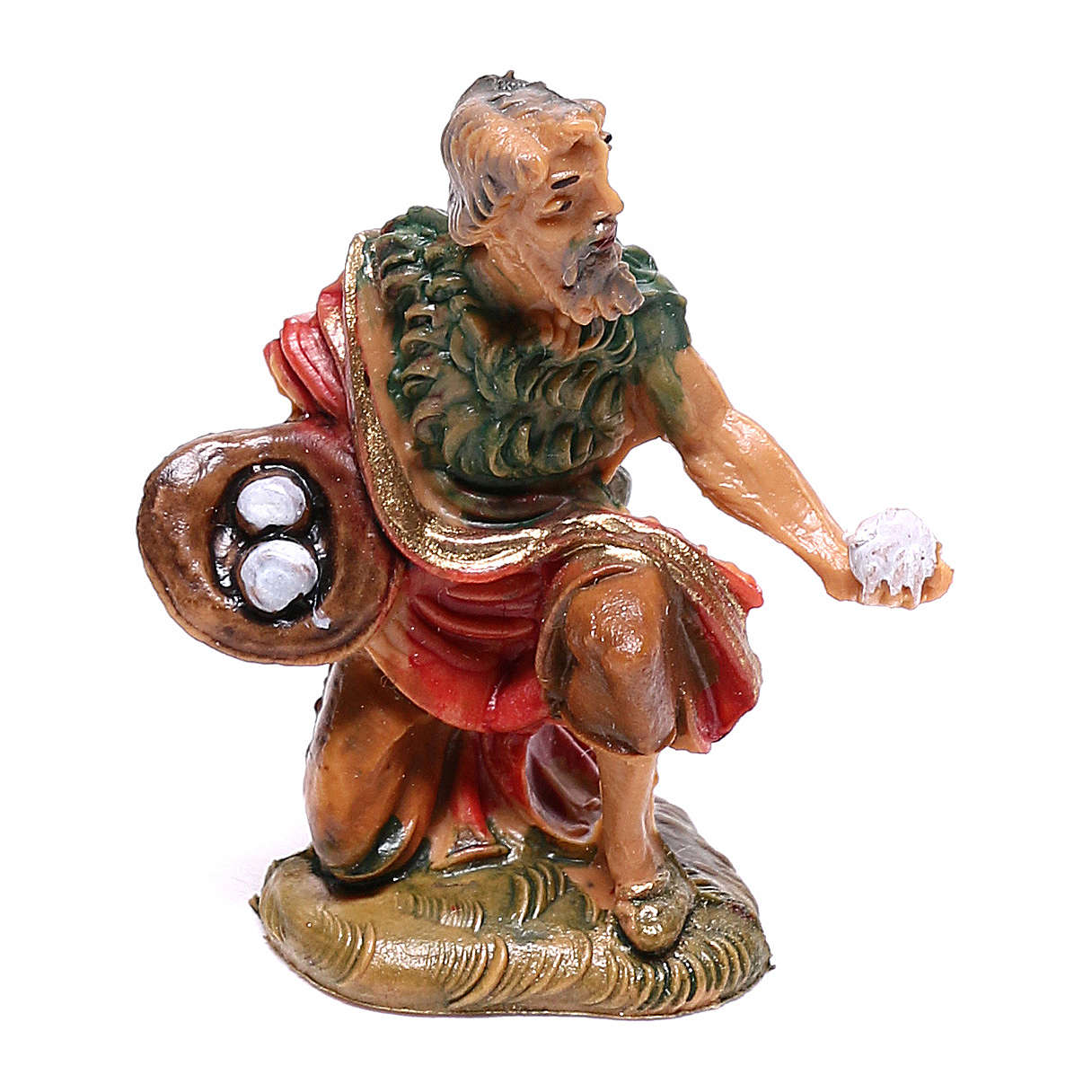Pastor com ovos para presépio Fontanini com figuras de 4 cm de altura média 4