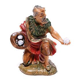 Pastor com ovos para presépio Fontanini com figuras de 4 cm de altura média s1