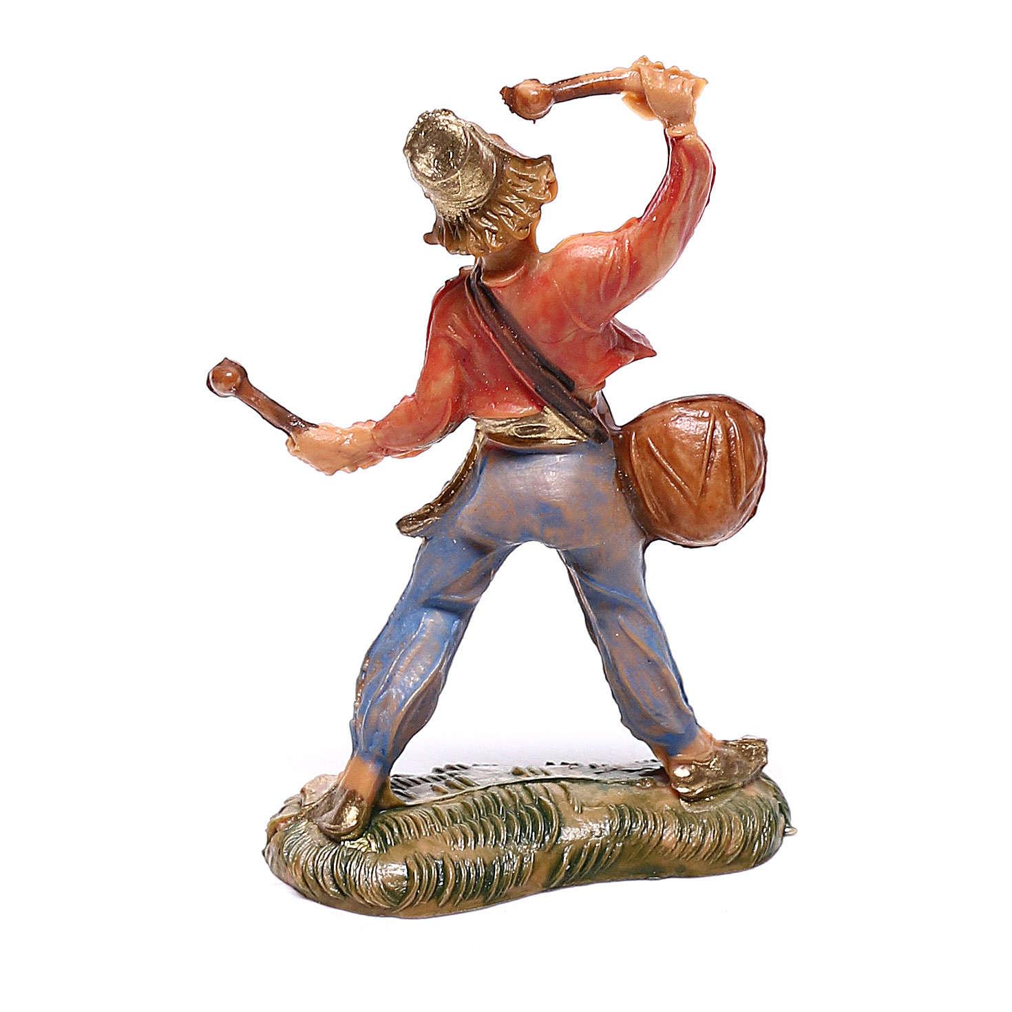 Pasterz z bębnem 4 cm szopka Fontanini 4