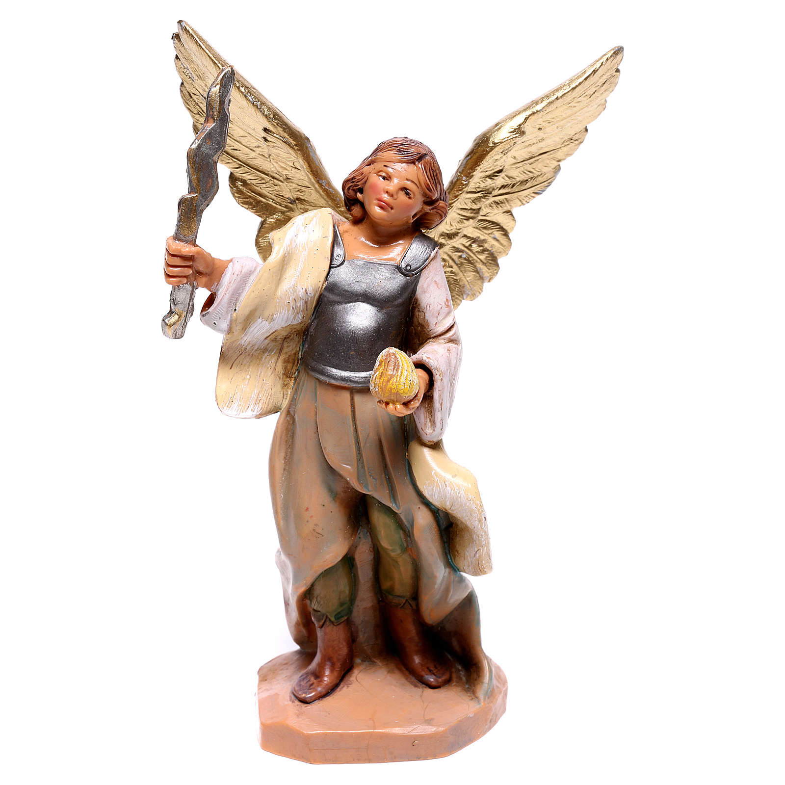 Ange avec foudre en main Fontanini crèche 12 cm 4
