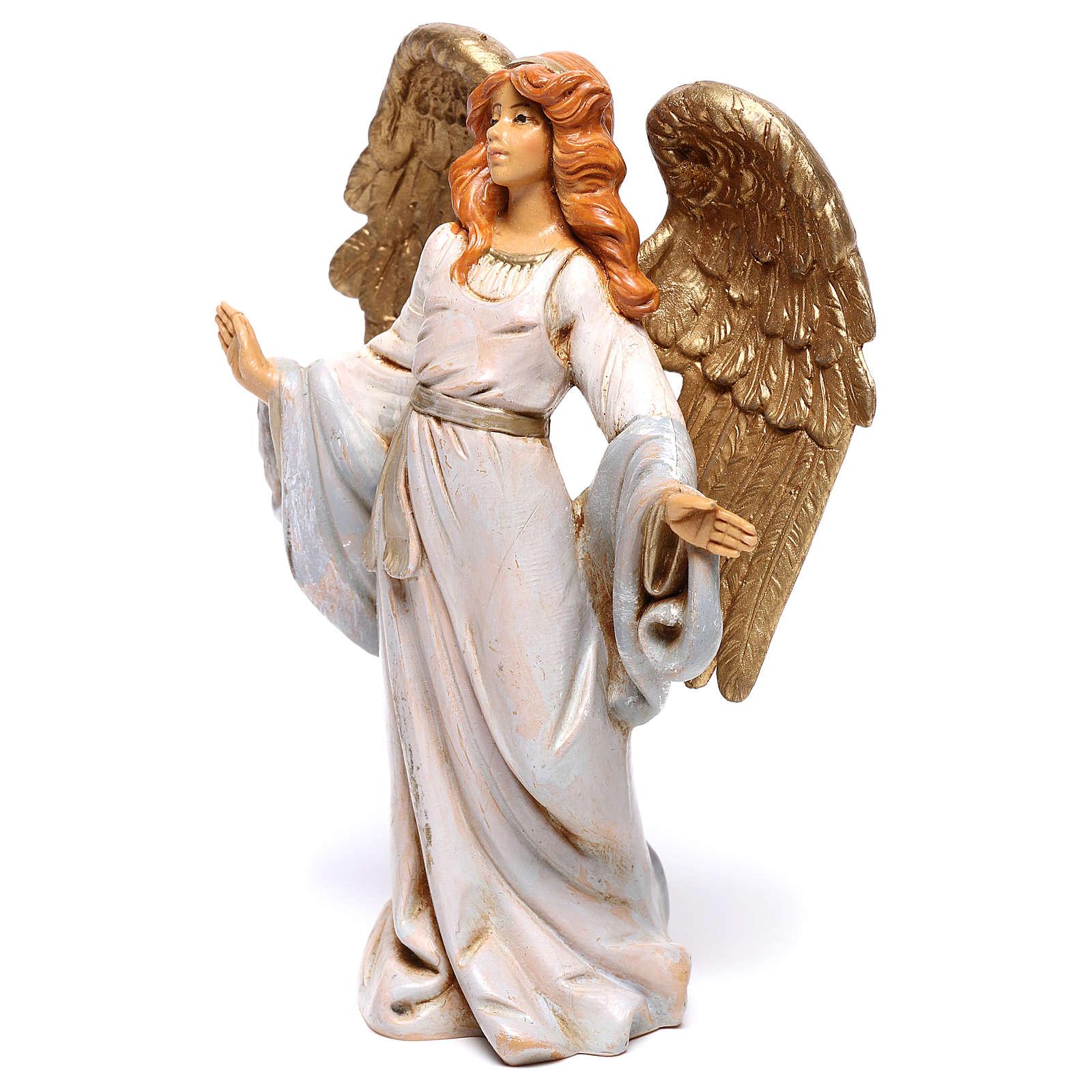 Anjo de braços abertos para presépio Fontanini com figuras de 12 cm de altura  média 4