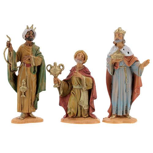 Rois Mages à pied crèche Fontanini 10 cm 1
