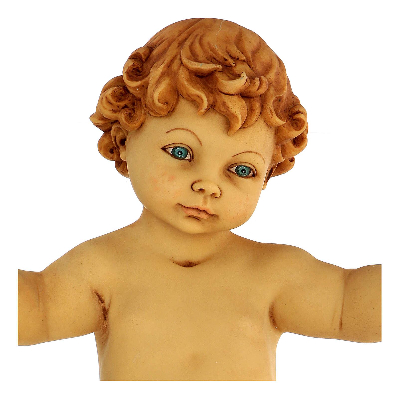 Niño Jesús sin vestidos de resina belén Fontanini 125 cm 4