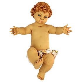 Gesù Bambino senza veste in resina presepe Fontanini 125 cm s1