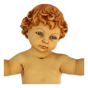 Gesù Bambino senza veste in resina presepe Fontanini 125 cm s2