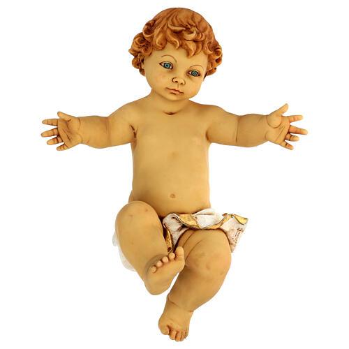 Gesù Bambino senza veste in resina presepe Fontanini 125 cm 1