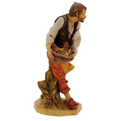 Pastor con gallina y pollitos 65 cm belén Fontanini 5
