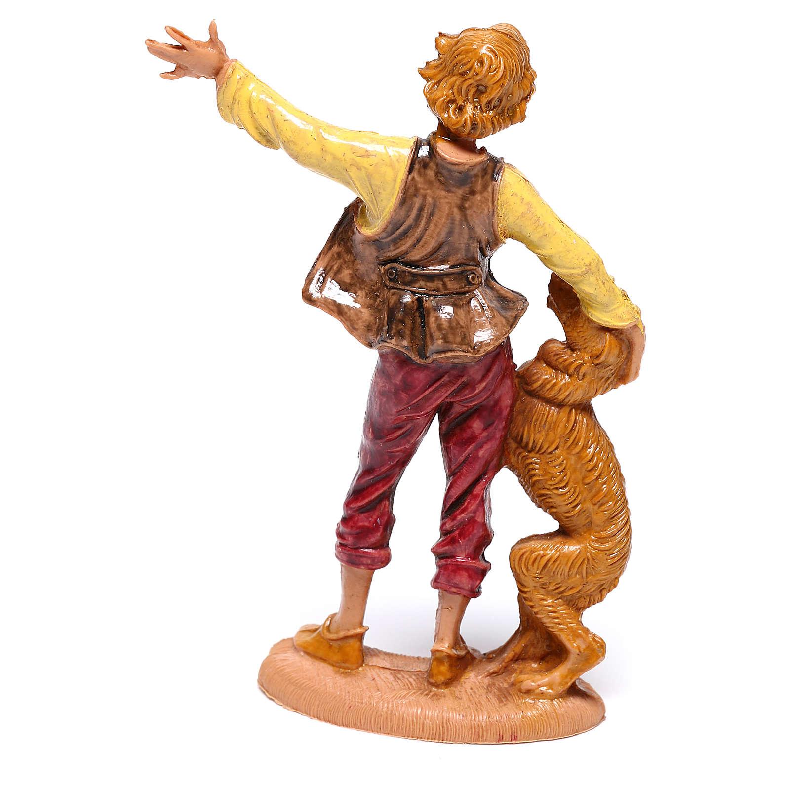 Berger avec chien crèche Fontanini 10 cm 4