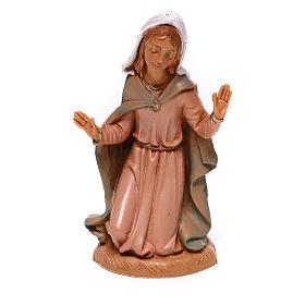 Virgen de rodillas para belén Fontanini 10 cm s1
