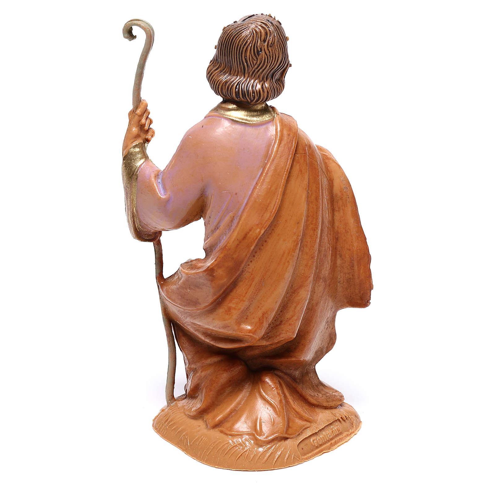 Heiliger Josef, kniend, für 10 cm Krippe von Fontanini 4