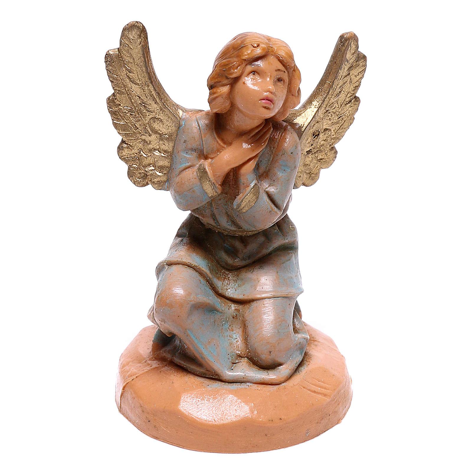 Anjo de joelhos mãos juntas para presépio Fontanini com figuras de 6,5 cm de altura média 4