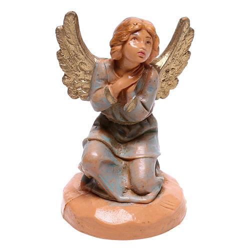 Anjo de joelhos mãos juntas para presépio Fontanini com figuras de 6,5 cm de altura média 1