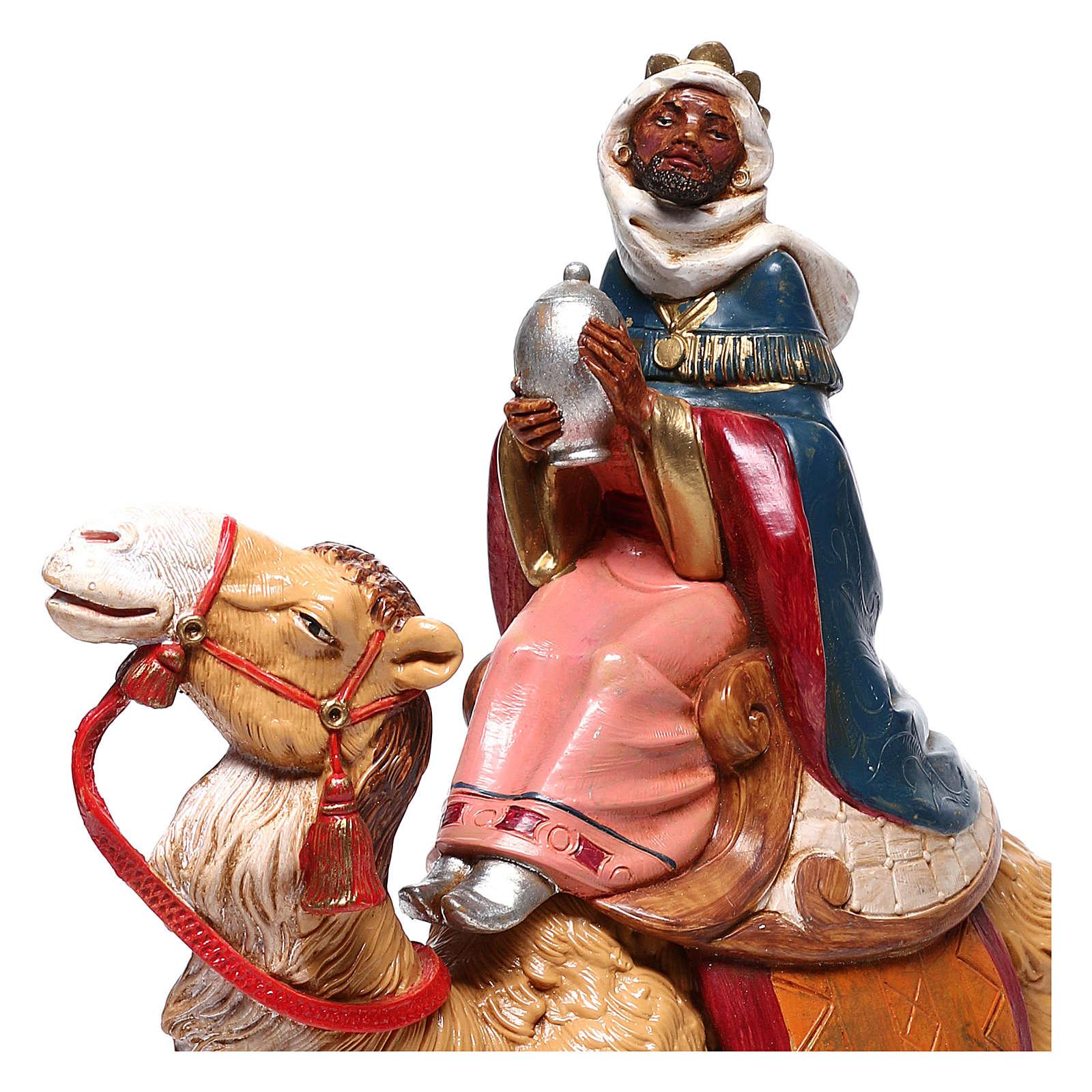 Serie Reyes Magos con camellos para belén Fontanini 19 cm 4
