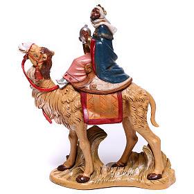 Serie Reyes Magos con camellos para belén Fontanini 19 cm s1