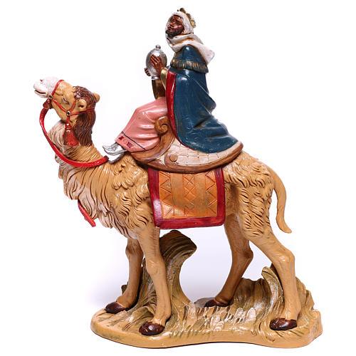 Serie Reyes Magos con camellos para belén Fontanini 19 cm 1