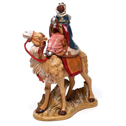 Serie Reyes Magos con camellos para belén Fontanini 19 cm 3