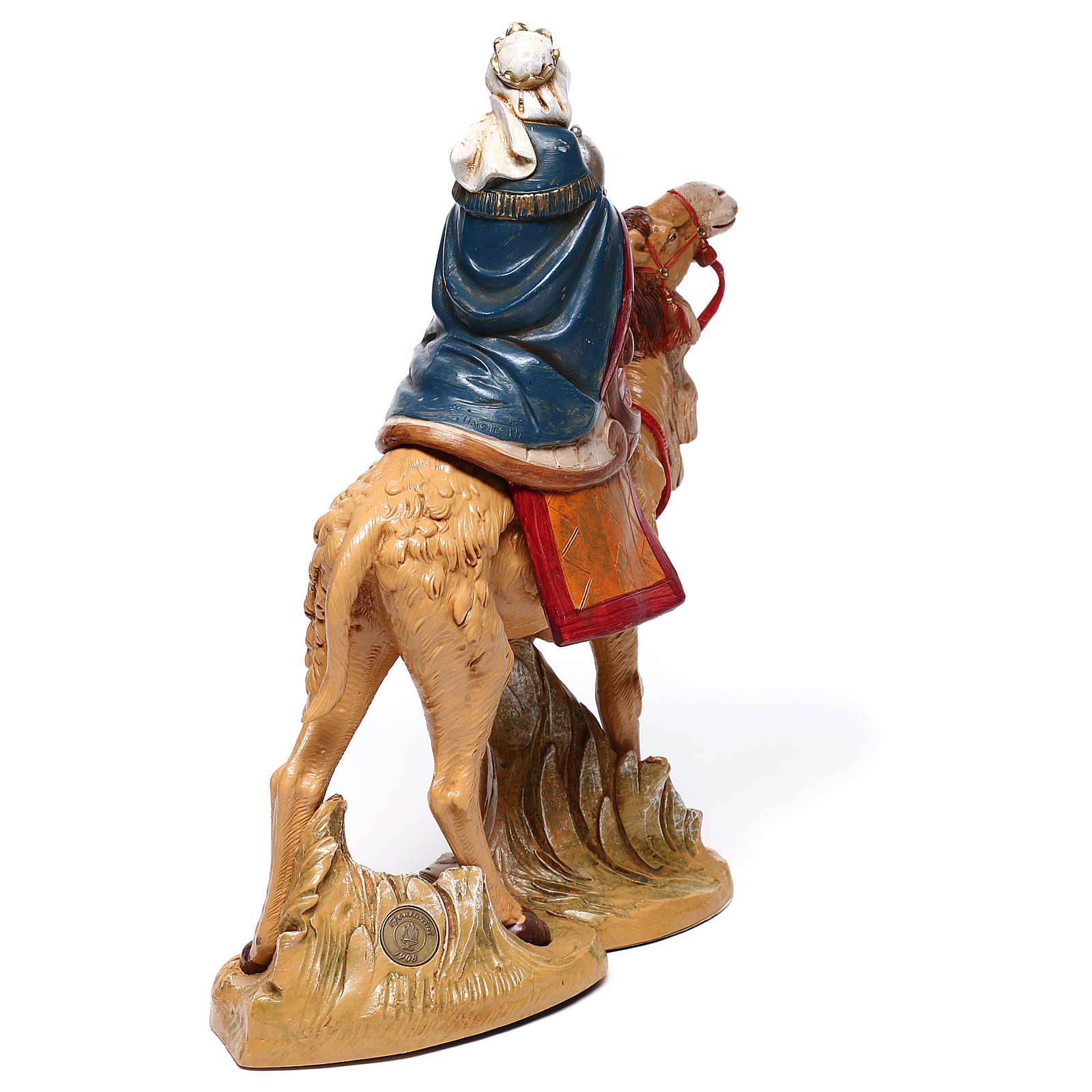 Re Magio Mulatto su elefante presepe Fontanini 19 cm 4