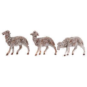 Moutons en résine 18 pcs pour crèche Fontanini 19 cm modèles divers s2