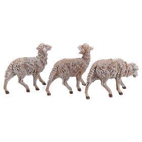 Moutons en résine 18 pcs pour crèche Fontanini 19 cm modèles divers s3