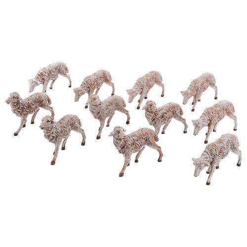 Moutons en résine 18 pcs pour crèche Fontanini 19 cm modèles divers 1