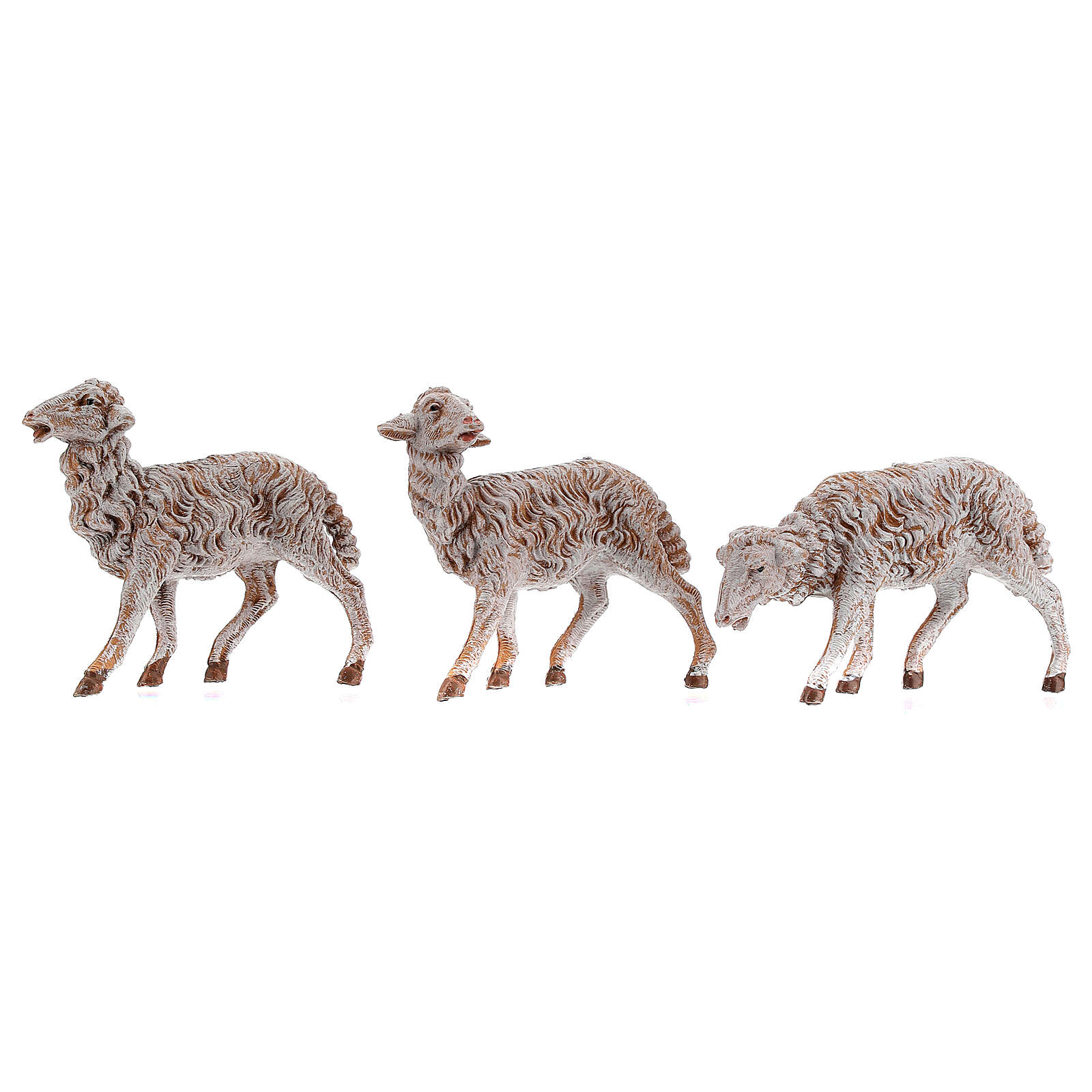 Pecore in resina 18 pz per presepe Fontanini 19 cm mod. assortiti 4