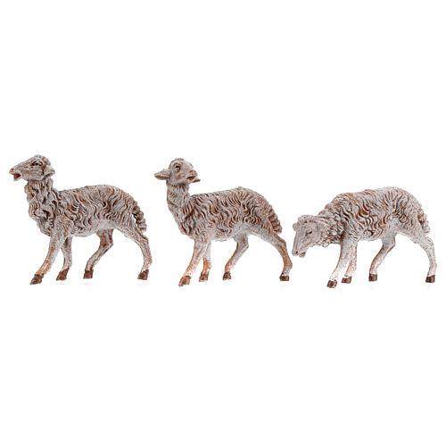 Pecore in resina 18 pz per presepe Fontanini 19 cm mod. assortiti 2