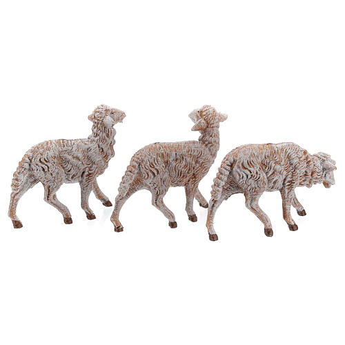 Pecore in resina 18 pz per presepe Fontanini 19 cm mod. assortiti 3