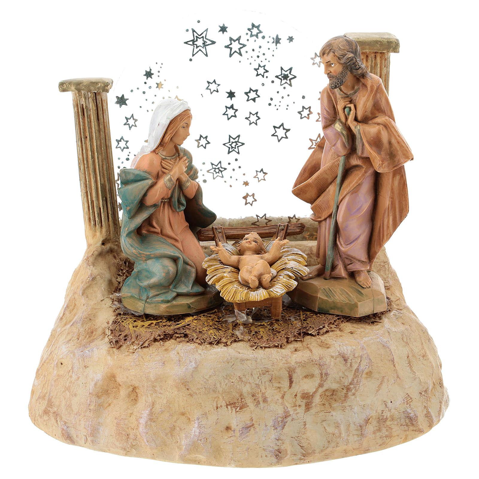 STOCK Natividad de resina con carillón belén Fontanini 17 cm 4