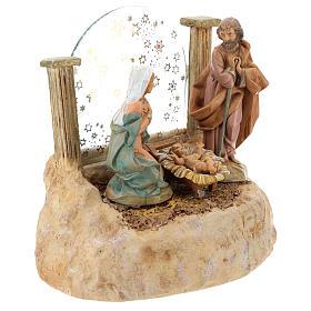 STOCK Nativité en résine avec carillon crèche Fontanini 17 cm s3