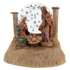 STOCK Nativité en résine avec carillon crèche Fontanini 17 cm s5