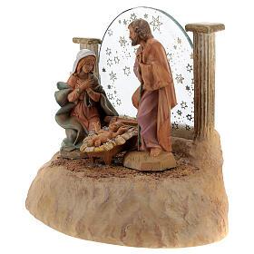 STOCK Nativité en résine avec carillon crèche Fontanini 17 cm s6