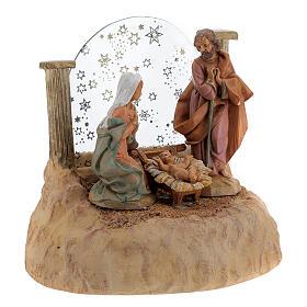 STOCK Nativité en résine avec carillon crèche Fontanini 17 cm s7