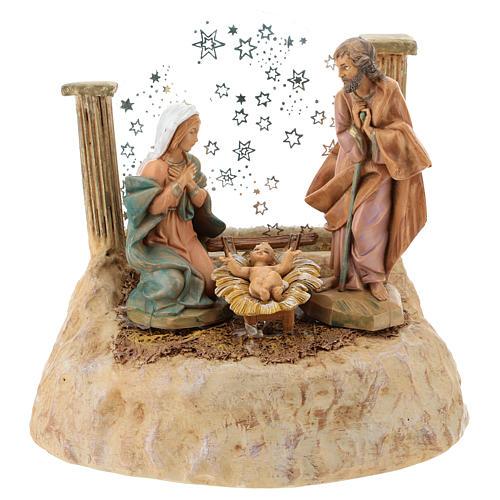 STOCK Nativité en résine avec carillon crèche Fontanini 17 cm 1