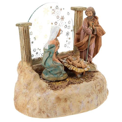 STOCK Nativité en résine avec carillon crèche Fontanini 17 cm 3