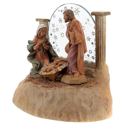 STOCK Nativité en résine avec carillon crèche Fontanini 17 cm 6