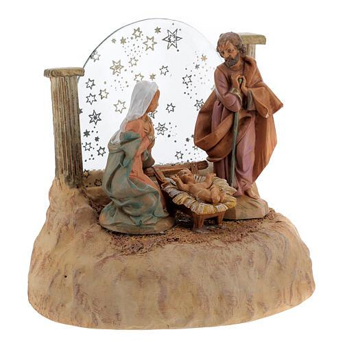 STOCK Nativité en résine avec carillon crèche Fontanini 17 cm 7