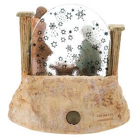 STOCK Natività in resina con carillon presepe Fontanini 17 cm s4