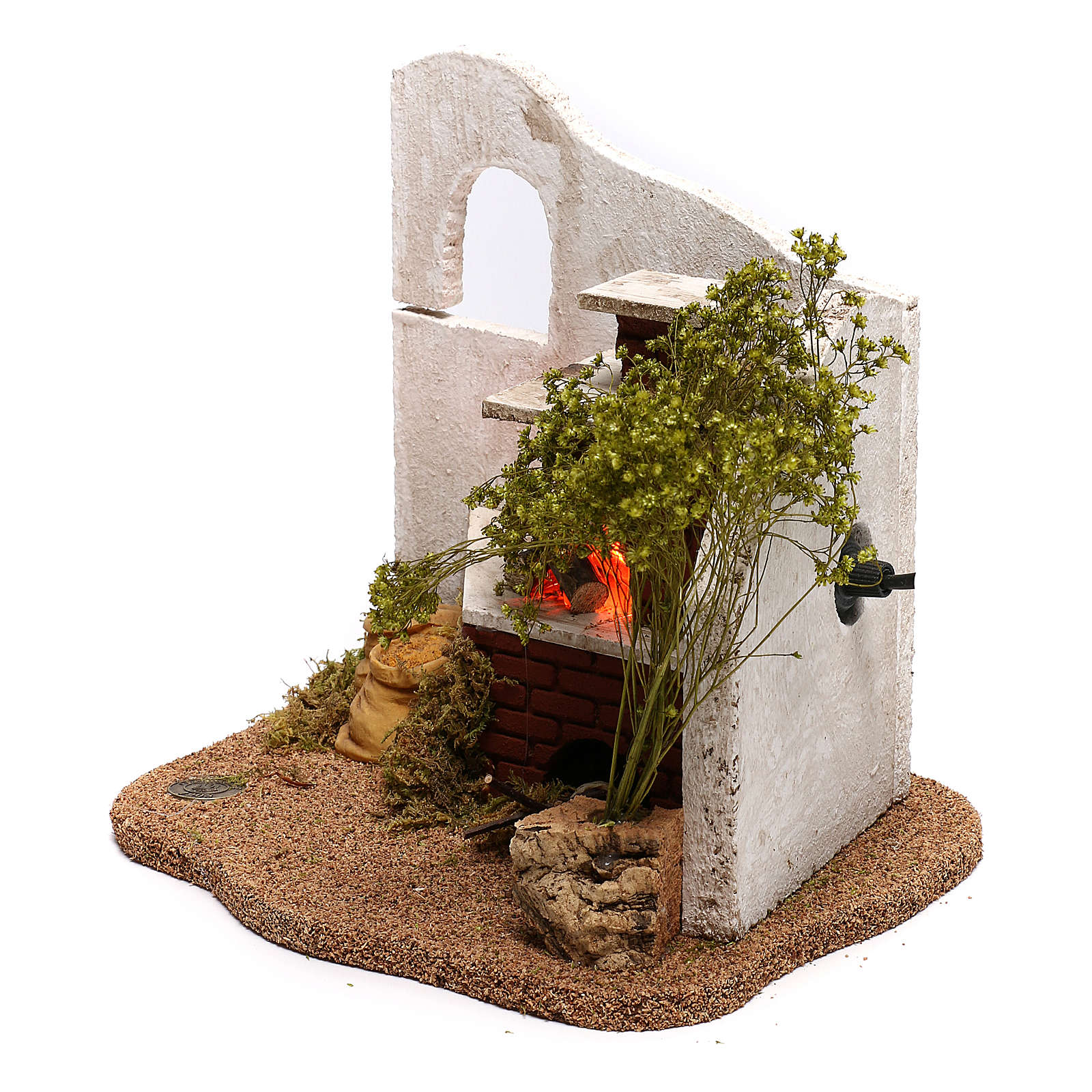 STOCK Ambientación abrevadero animales para belén Fontanini 6,5 cm 4
