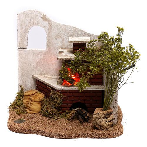 STOCK Ambientazione abbeveratoio animali per presepe Fontanini 6,5 cm 1