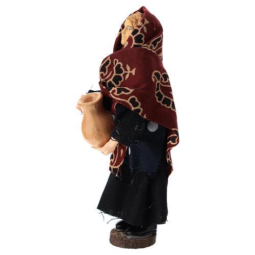 Donna con brocca terracotta e plastica presepe di 12 cm 2