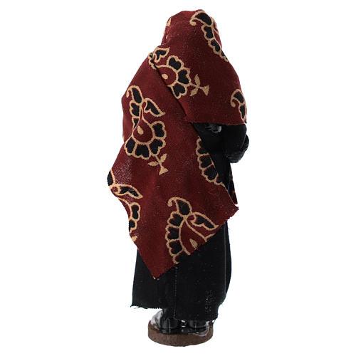 Donna con brocca terracotta e plastica presepe di 12 cm 3
