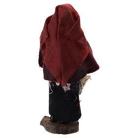 Mujer con cesta terracota y plástico belén de 12 cm s3
