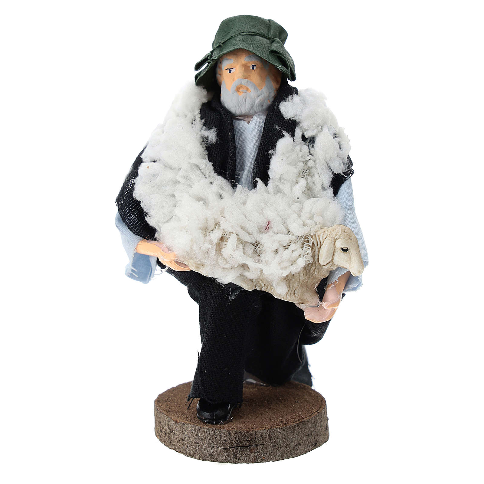 Shepherd on his knees for Nativity scenes of 12 cm in terracotta and plastic 3