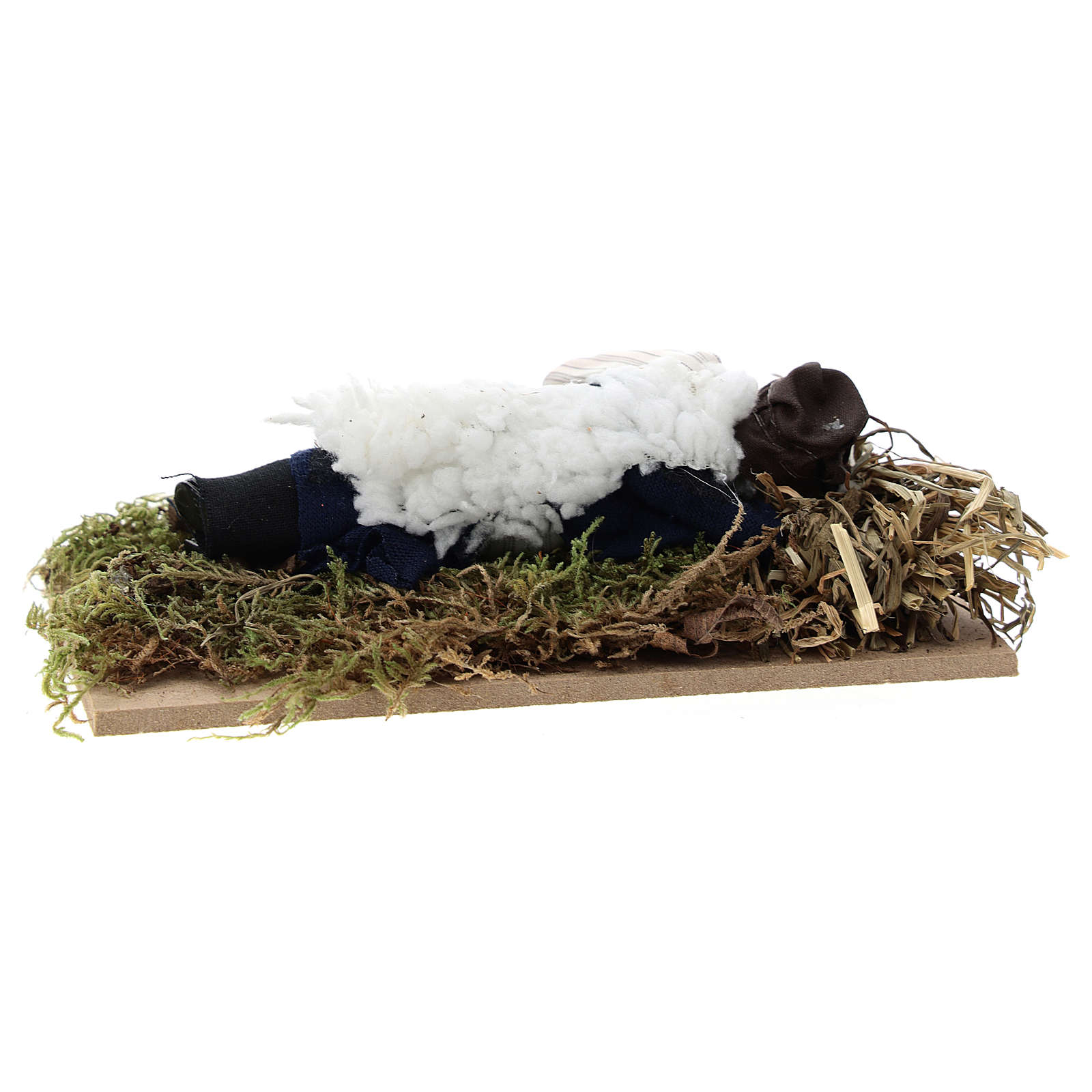 Dormiente terracotta e plastica presepe di 12 cm 3