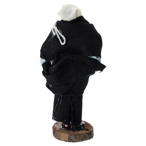 Pastor con jamón terracota y plástico belén 12 cm 3